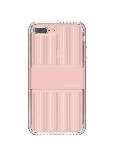 Baseus Iphone 7 / 8 / Se Travel Series Case Şeffaf Kılıf - Roze Gold Renkli